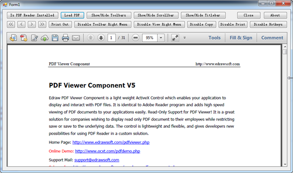 Embed PDF into a VB NET form using Adobe Reader Component