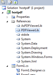 Display Read-Only PDF Document in C#