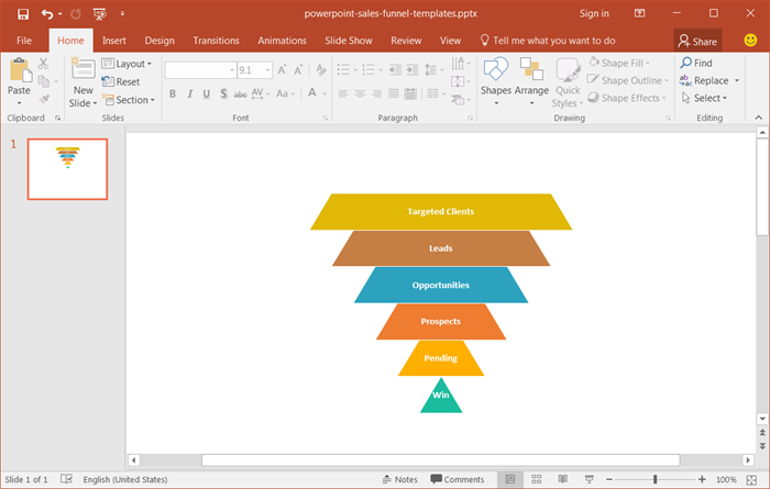 Sales Funnel template for powerpoint
