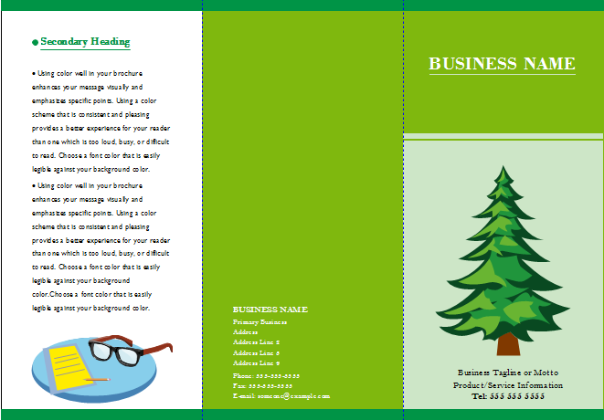 Customizable Brochure Templates Free Download - Template to make a brochure
