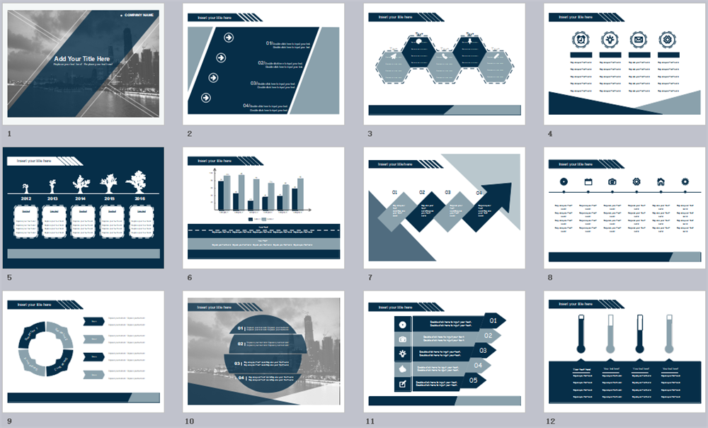 Dark Color PowerPoint Template
