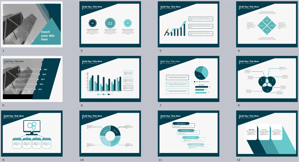 Green Triangle PPT Template