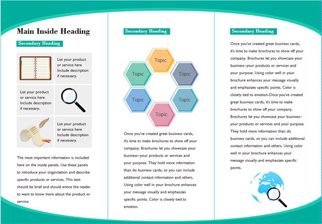 leaflet template informational brochure templates free