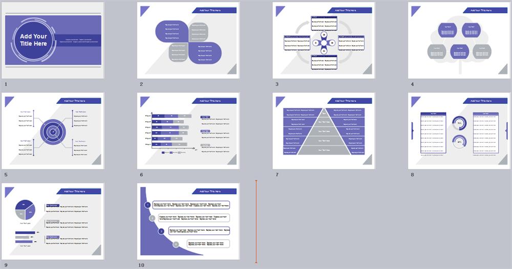 Purple Flat PowerPoint Template