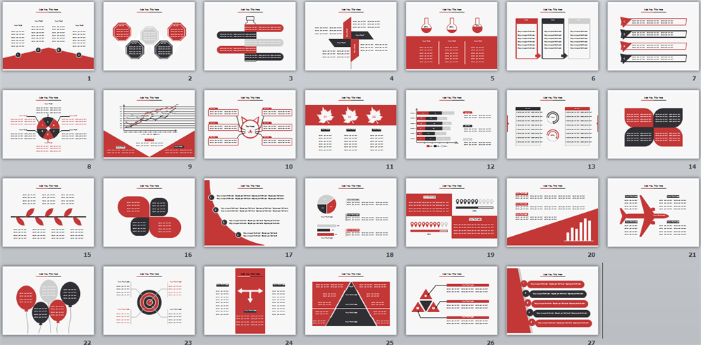 Powerpoint templates red ppt template toneelgroepblik Image collections