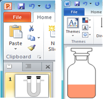 Copy Lab Equipment Shapes to MS