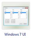 Windows 7 logiciel de conception d'interface utilisateur