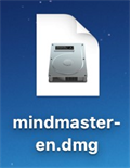 Double Click DMG file to install MindMaster