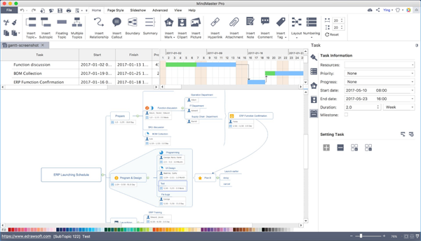 MindMaster Gantt for Mac