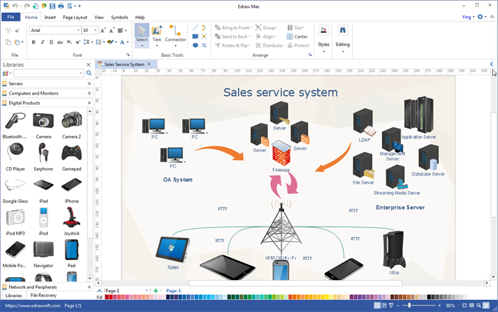 All in one visualization software edraw max Diagram drawing software free download