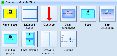 Symbols for Conceptual Web Site