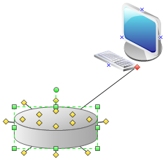Connect Network Diagram Shapes
