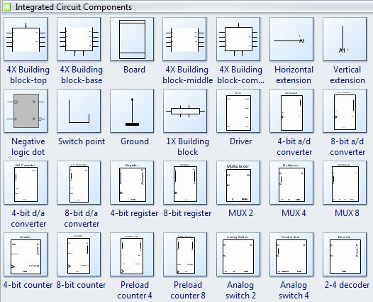 Integrated circuit schematics software
