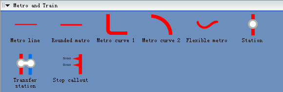 2D Directional Map - Metro and Train