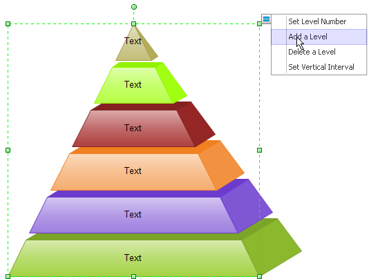 ... with theme and quick style. Learn how to draw pyramid diagram easily
