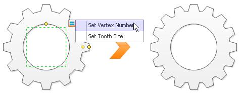 Set vertex number of gear shape