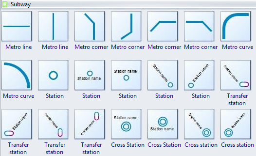 Custom Subway Map Creator.Subway Map Software