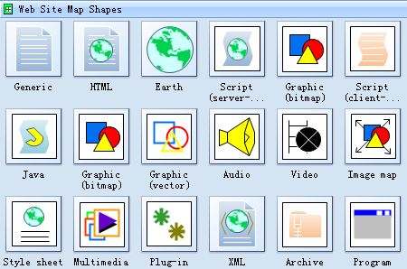 Web Site Map Shapes