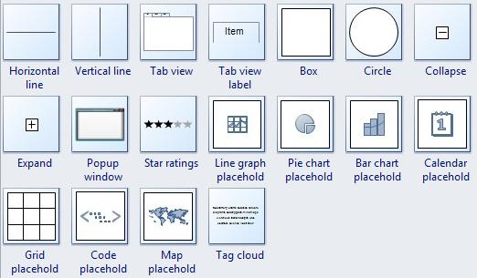 Wireframe Symbols 2