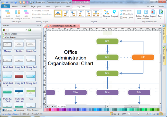 office administration organizational chart software - Free Organizational Chart Template For Mac