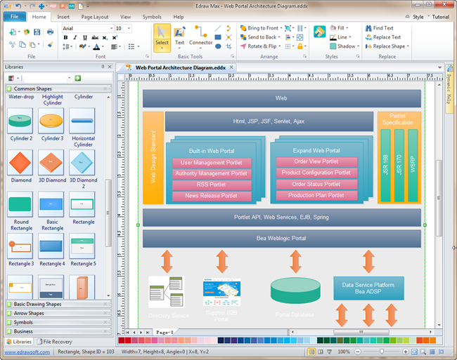 Easy architecture diagram software for Visio template for software architecture