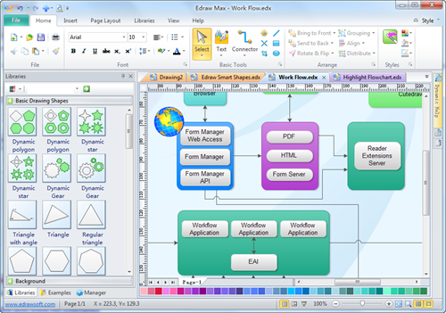 Block diagram software view examples and templates Diagram drawing software free download
