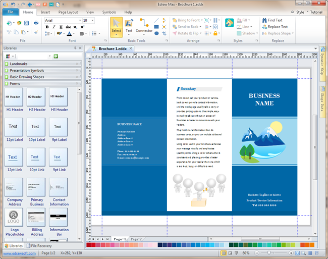 Brochure software a powerful tool to make elegant brochures for Software for designing brochures