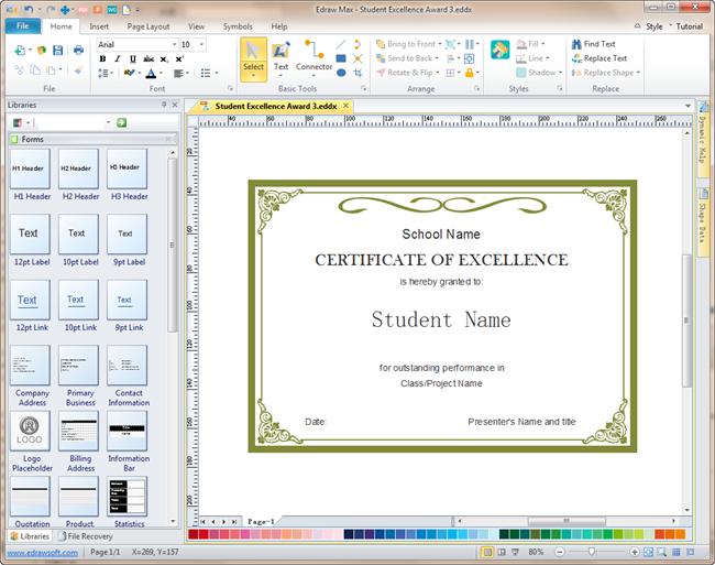 Certificate Software