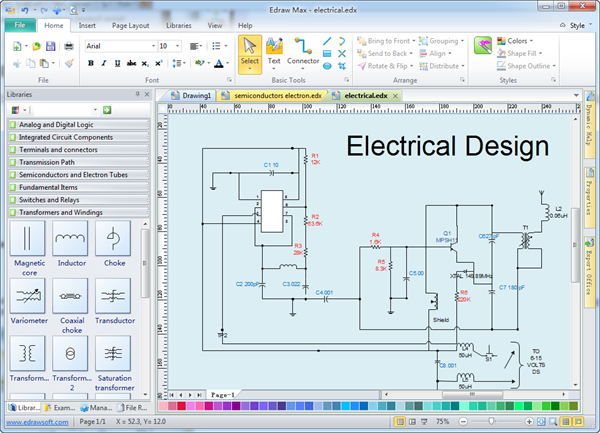 Industrial electrical cabinet wiring diagram