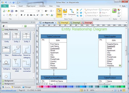 Entity Relationship Diagram Software