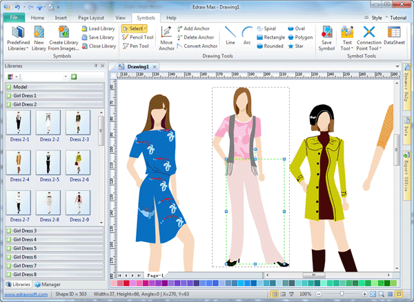 Fashion design program edraw for Program design tools
