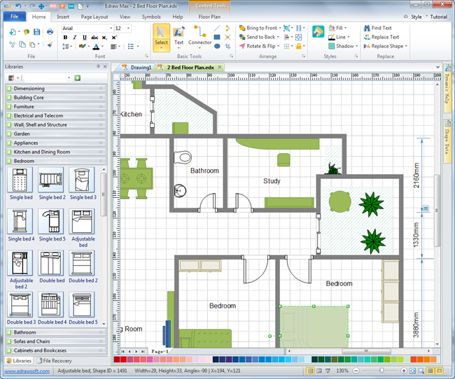 Floor plan tool for real estate ads for Office floor plan software