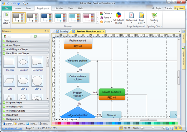 Flowchart drawing tools Diagram drawing software free download