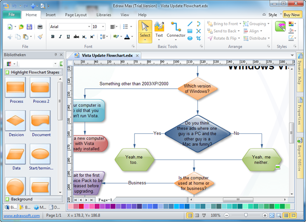 Easy Flowchart Maker – Flowchart Templates Word