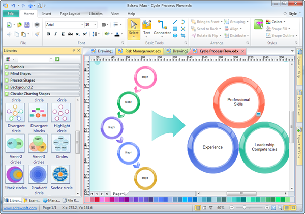 Easy graphic organizer edraw Art design software