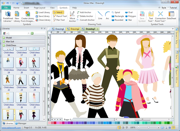 Kids clothing design software edraw Art design software
