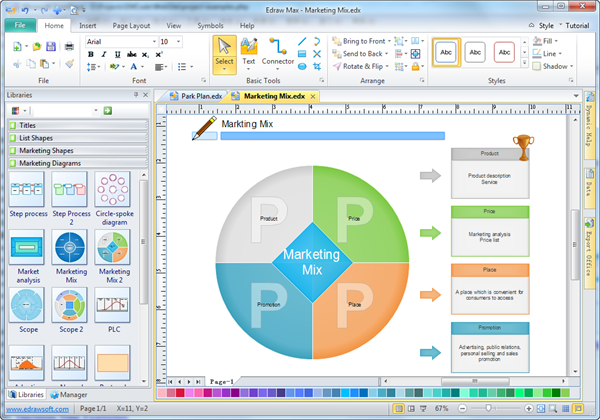 best diagram software Mix Software
