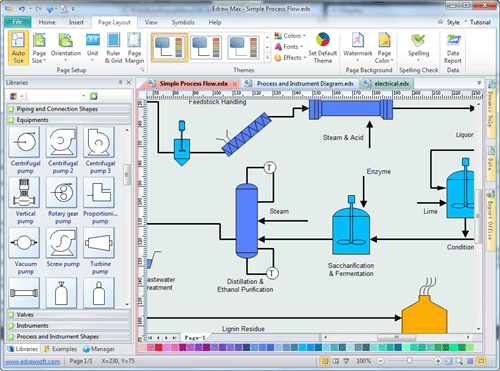Easy process and instrumentation drawing software Diagram drawing software free download