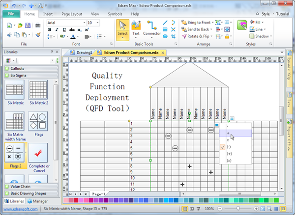 Qfd Excel Template