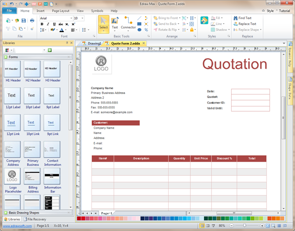 Quote Form Software Create Quote Forms Rapidly With Templates Cool Make A Quote