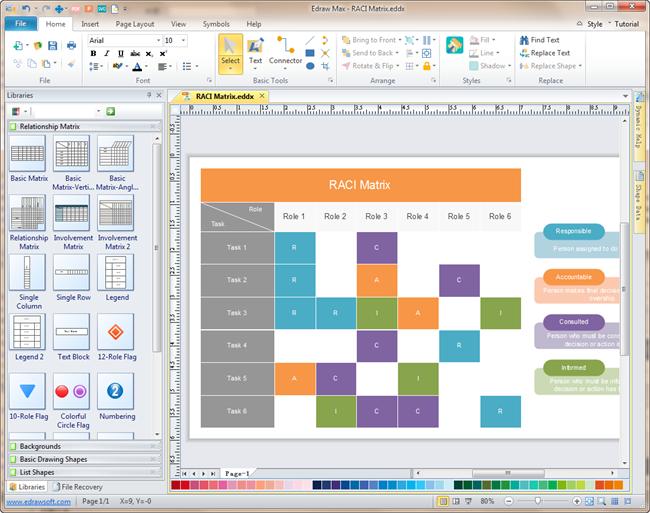 Raci Software Excellent Raci Matrix Maker