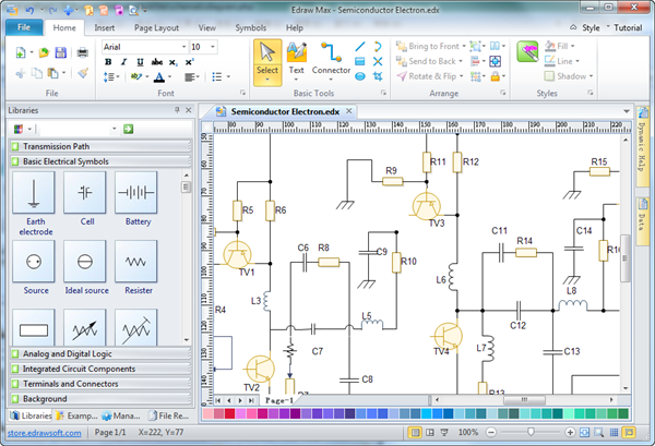 schematic diagram software rh edrawsoft com electrical schematic software linux electronic schematic maker