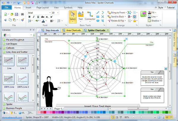 spider diagram  free templates and examples downloadspider chart software