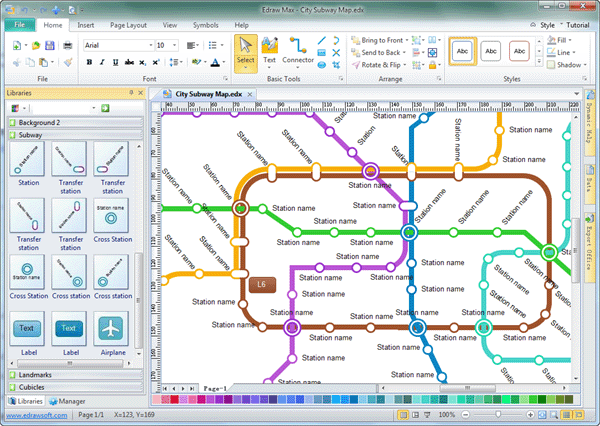 Subway Map Generator.Subway Map Software