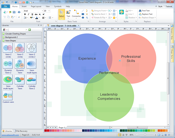 Venn Diagram Visio Stencil: Venn Diagram - Free Venn Examples Template Software Download,Chart