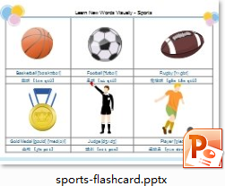 Sports Flash Card