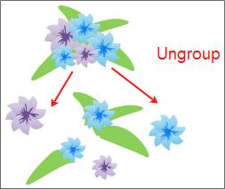 Ungroup shape
