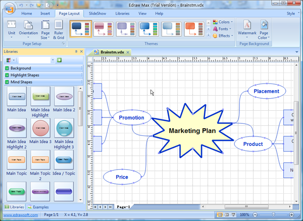 Visio Mind Map