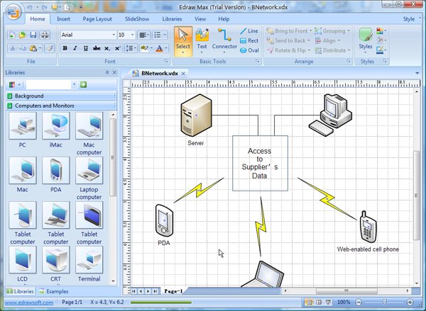 Visio Basic Network Topology Diagram