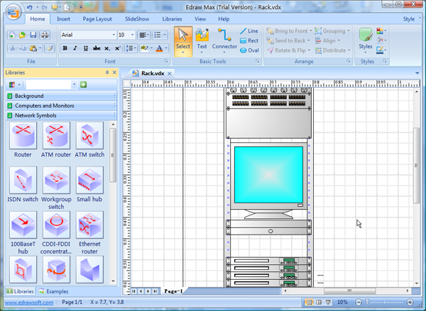 visio rack - Free Visio Type Software
